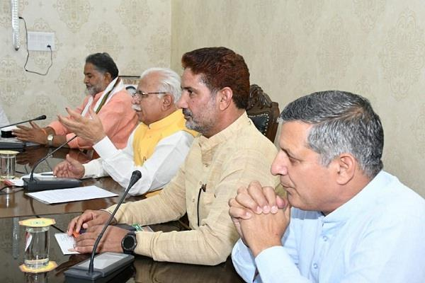 legislative party meeting chaired by chief minister manohar lal in