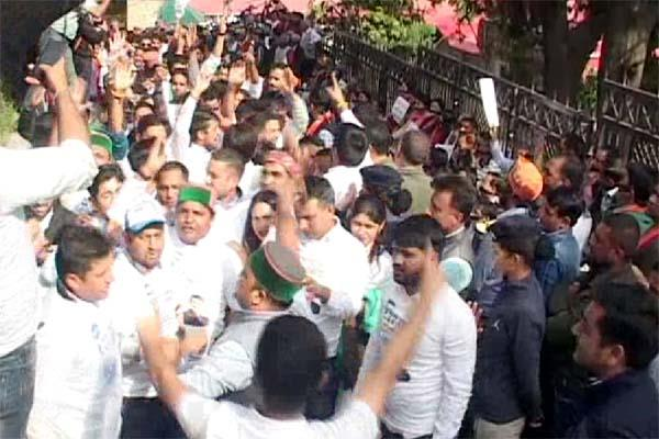 when youth congress sloganeering in bjp s silent show