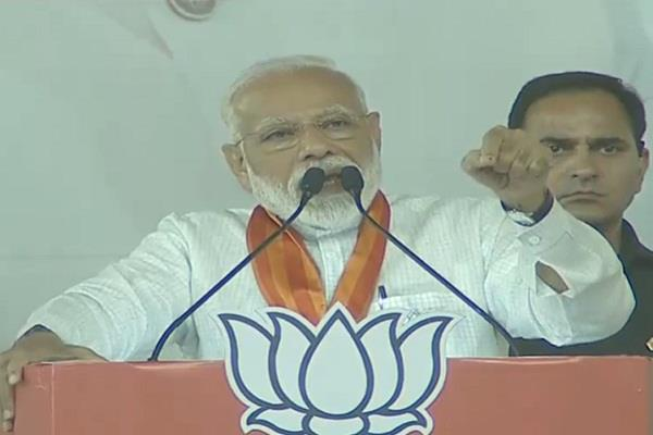 country is choosing a strong government instead of  family first  modi