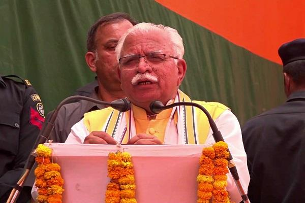 cm khattar showed power in hooda area