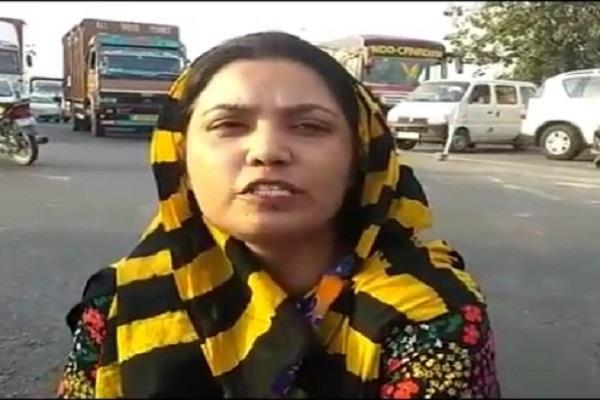 candidate rajbala was detained by police on charges of jamming the road