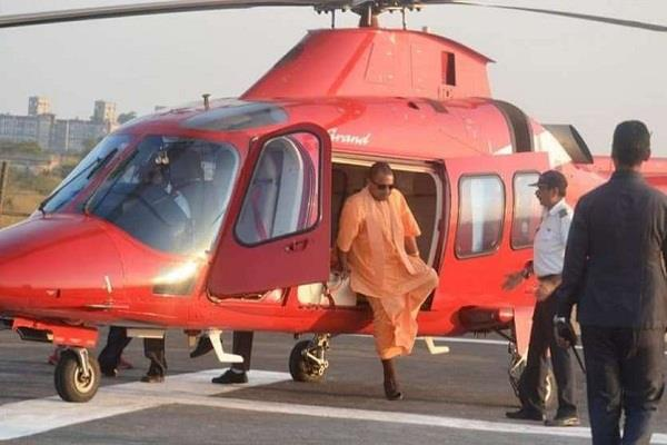 amit shah s yogi adityanath helicopter not allowed to ladding
