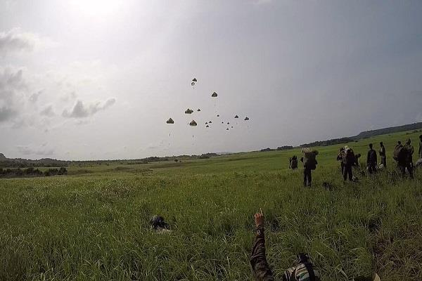 joint exercises made by armed forces all three forces in andaman