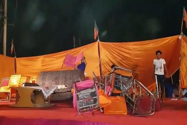 people of the bjp program will have to cancel the canoe tent subhash barla
