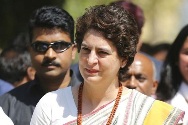 congress general secretary priyanka gandhi on a two day visit to rae bareli