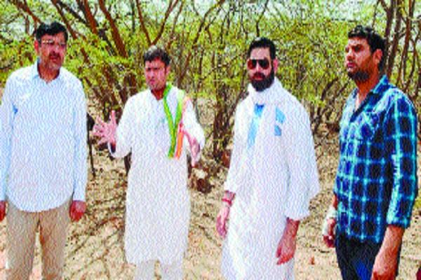 bjp accuses thousands of acres of mountain scandal in aravali on bjp