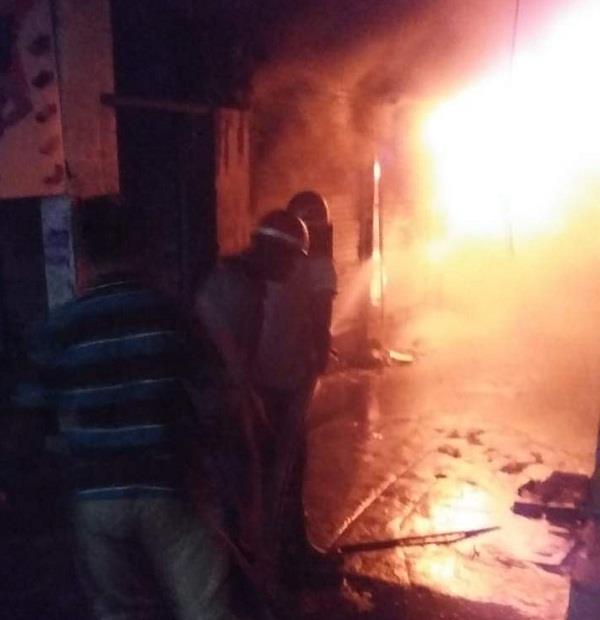 fire in footwear shop