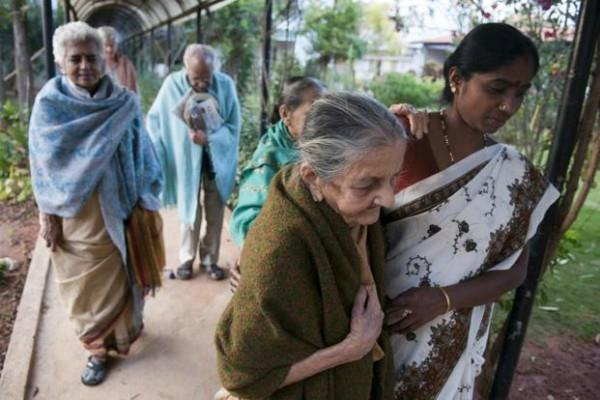 35 percent of people are not happy serving the elderly