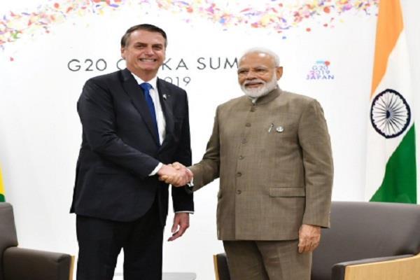 pm modi meets brazil president