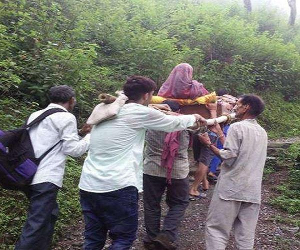 patients brought to the sedan in this village of chamba