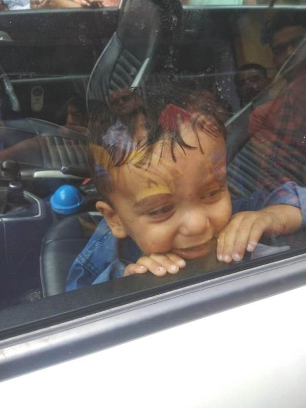 baby locked in car