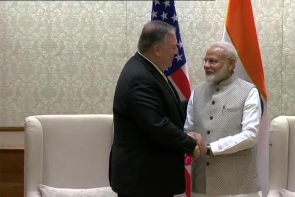 us secretary of state mike pompeo meets pm modi