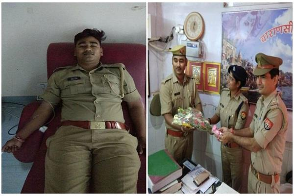up police constable donate his blood and save the life of newborn baby