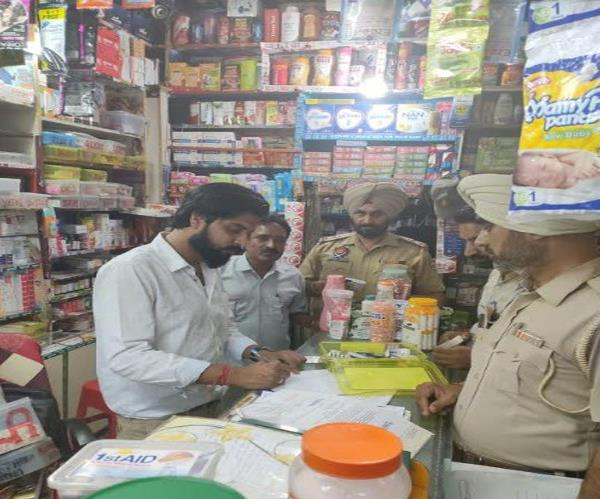 raids at chemist shop baltana taken banned drugs