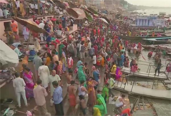 millions of pilgrims dip the faith of ganga dussehra