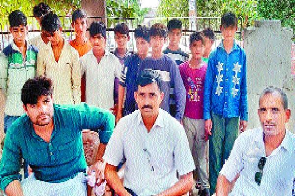 police rescue 14 children wages