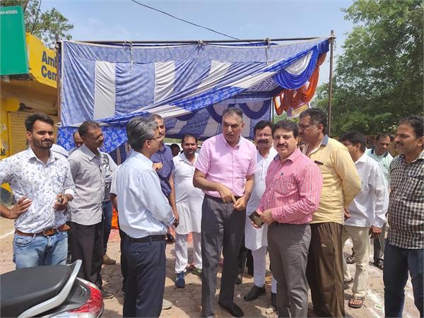 harmilap nagar railway gate survey for the underpass