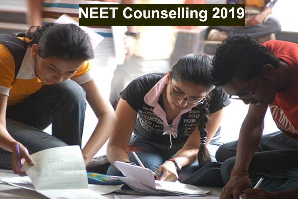 neet counseling 2019 first round counseling registration today the last date