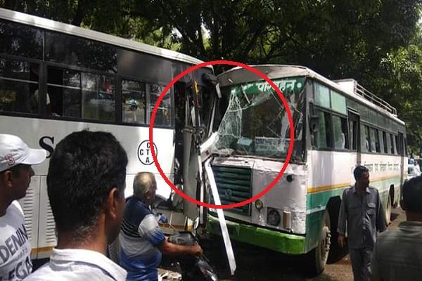 collision of the tourist bus and hrtc bus in kangra