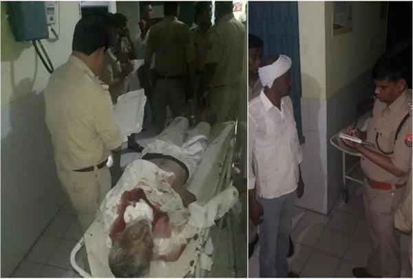 firing in baghpat panchayat one killed three injured