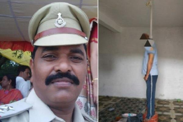 sho hangs in jhabua suicide kills police blasts