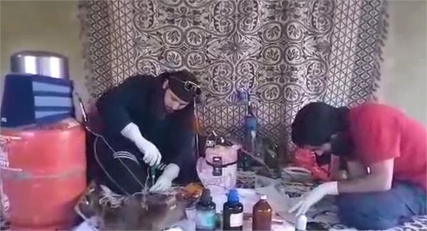 militant naveed babu busy in making ied video viral