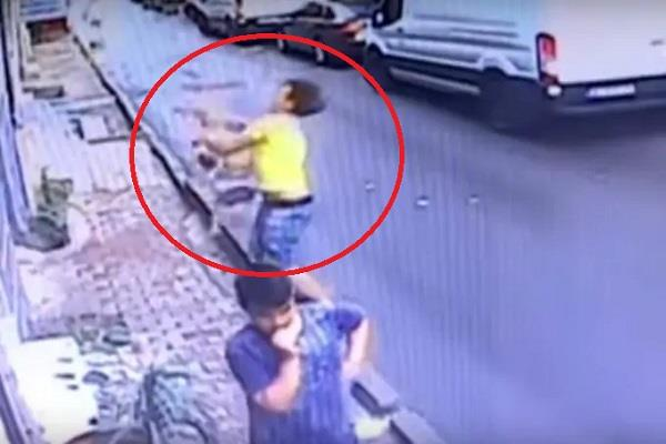 the young girl from the second floor was saved in just 2 seconds