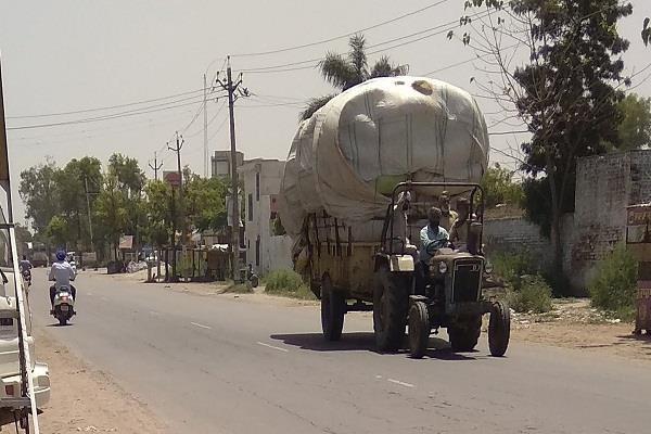 overloaded vehicle
