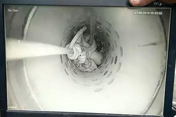 baby falls in 100 feet deep borewell