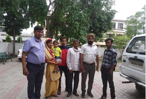 state crime branch introduces one and a half year old child to family