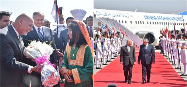 afghan president arrives in pakistan on two day visit