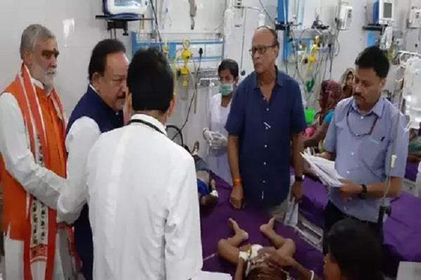 child patient of aes dies in presence of central health minister