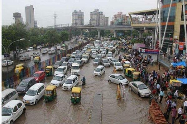 clogged drains roadside garbage show waterlogging risk high again in gurugram