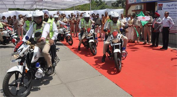 traffic police got 25 bikes