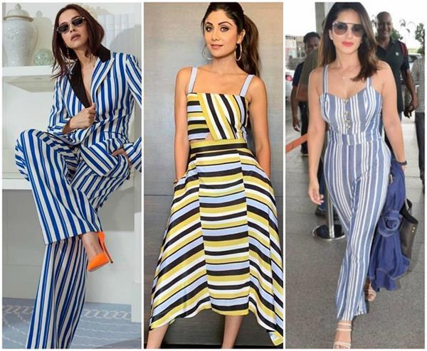 Fashion: स्ट्राइप ड्रेसेज ने की वापिसी, बॉलीवुड में छाया क्रेज (See Pics)