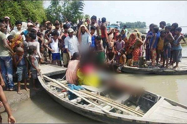 bihar 5 drown 4 children found body recovered kosi river bathing saharsa
