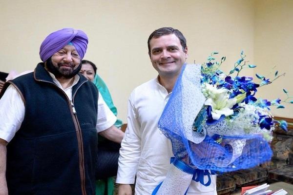 amarinder congratulates rahul on his birthday