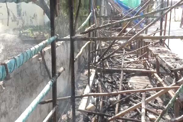 fire in tibetan market