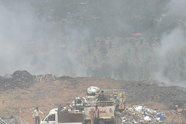 hrtc workshop in dumping site fire