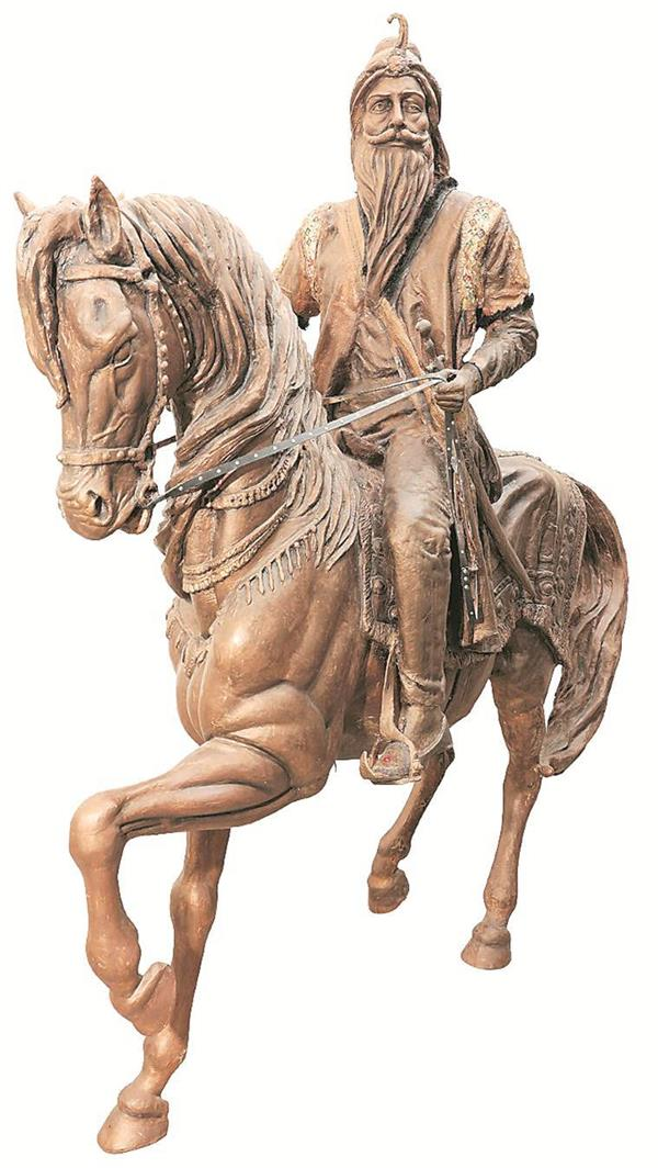 ranjit singh statue unveiled in lahore