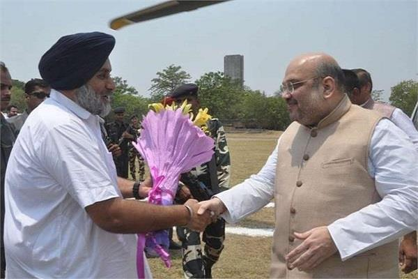 amit shah meets sukhbir badal