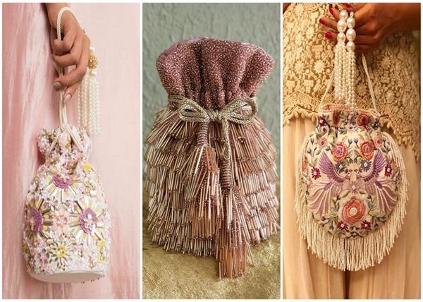 प्री-वेडिंग फंक्शन के लिए बेस्ट Potli Bags डिजाइन्स(See Pics)