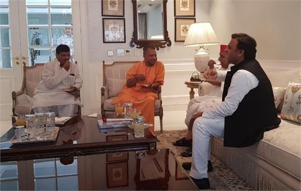 cm yogi who came to meet mulayam singh yadav