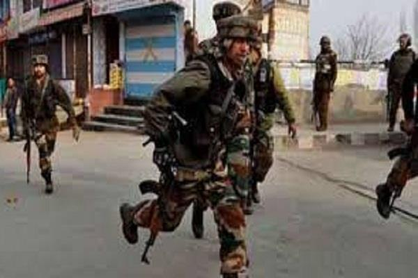 firing of terrorists on the anantnag bus stand