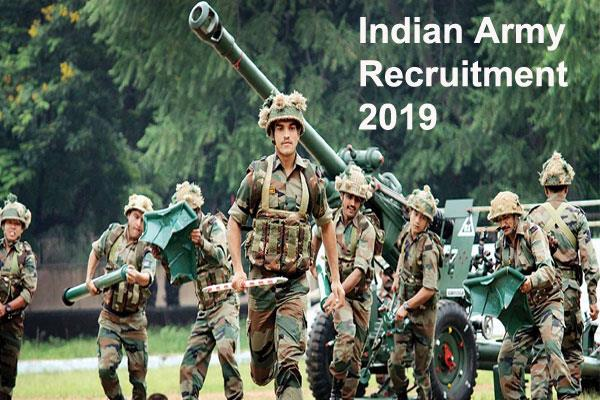 indian army recruitment 2019 jobs for 150 posts in the indian army