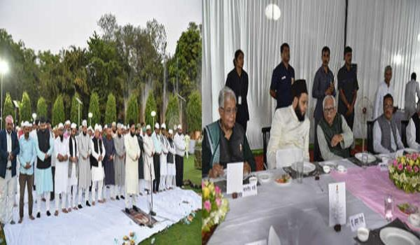 roza iftar in raj bhavan naik congratulates eid for advance