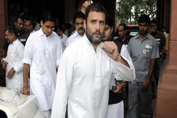 bjp member said  bharat mata ki   so rahul said  jaihind