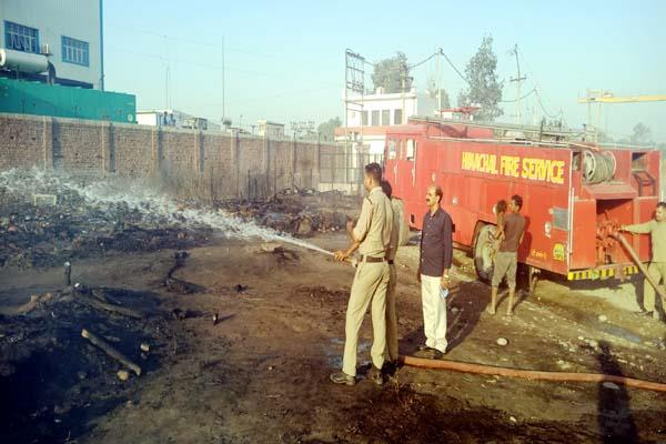 fire in slum
