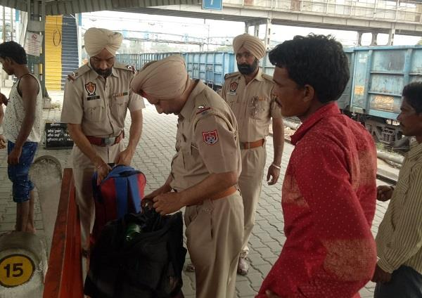 grp team checking railway station