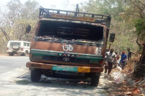 nahan truck fire damage